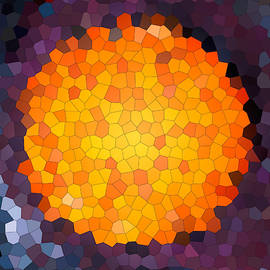 Abstract round mosaic background by Elena Sysoeva