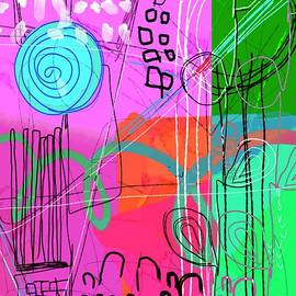 Abstract Scribble Little Black Boxes by Sarah Niebank