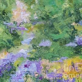 Abstract summer garden by Olga Malamud-Pavlovich