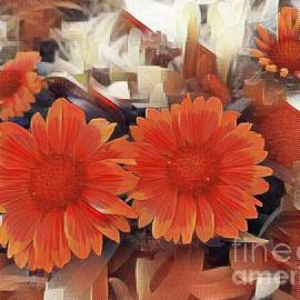 Abstract winter mood with floral decor by Zenya Zenyaris