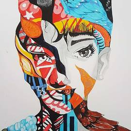 Abstract women painting by Subhrata Patel