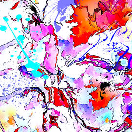 Abstracted colorful mind watercolor by Silver Pixie
