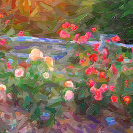 Abstracted Roses by David Zimmerman
