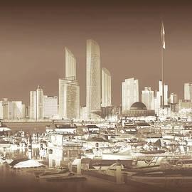 Abu Dhabi Cityscape in Sepia by Slawek Aniol