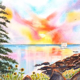 Acadia Park Colorful Sky by Carlin Blahnik CarlinArtWatercolor