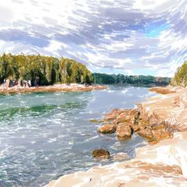 Acadia seashore pastel by Alexey Stiop