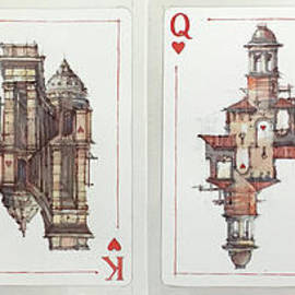 Ace, king, queen and jack of Hearts by Andrey Svistunov