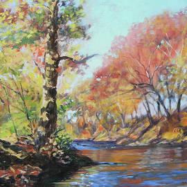 Across That River - Roanoke River Autumn by Bonnie Mason