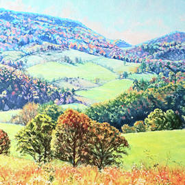 Across the Valley - Blue Ridge Mountain Vista by Bonnie Mason