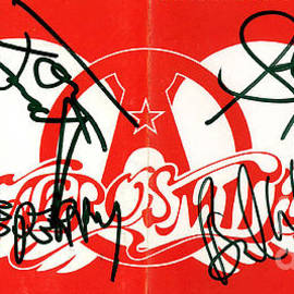 Aerosmith Autographs by Timothy Bischoff