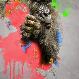 African Lowland Gorilla Digital Art by Darren Wilkes