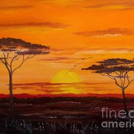 African Savannah Sunrise by Lee Piper