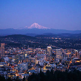 After Sunset at Portland by Varma Penumetcha