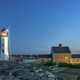 After Sunset at Scituate Lighthouse by Juergen Roth