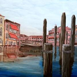 Afternoon On The Venice Canal by Irving Starr