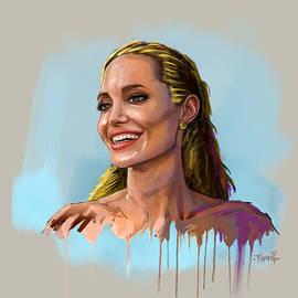 Angelina Jolie by Anthony Mwangi
