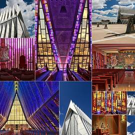 Air Force Academy Chapel Collage by Allen Beatty