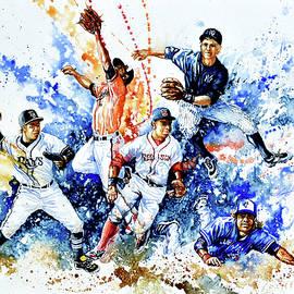 AL Fielders In The Zone by Hanne Lore Koehler