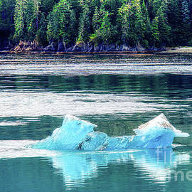 Alaskan Aqua Iceberg Reflection by Michele Hancock