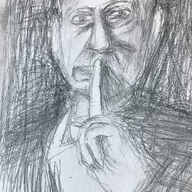 Alfred Hitchcock portrait  by Ray Steele