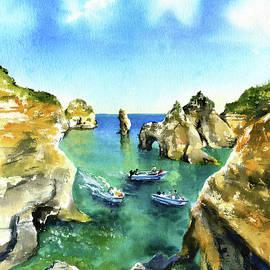 Algarve Lagos Painting by Dora Hathazi Mendes