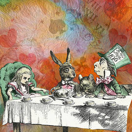Alice In Wonderland - Tea Party by Mary Poliquin - Policain Creations