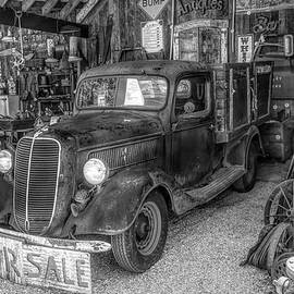 All in Black and White Vintage 1937 Pickup Truck by Debra and Dave Vanderlaan