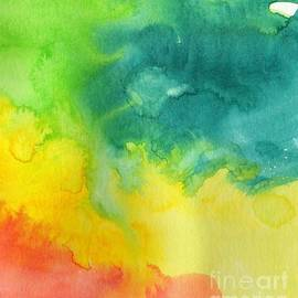 Allowing Flow Viridian Yellow Red by Sarah Niebank