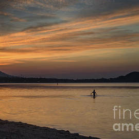 Alone At Sunset by Michelle Meenawong