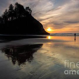 Alone on the Beach by Mike Dawson