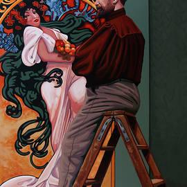 Alphonse Mucha Painting by Paul Meijering