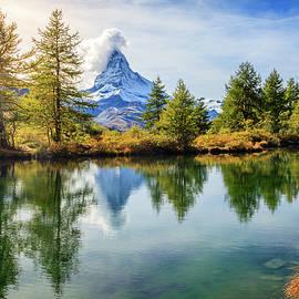 Alpine pond by Alexey Stiop