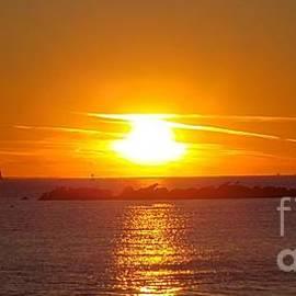 Amazing Sunset over the Atlantic Ocean  by Olga Malamud-Pavlovich
