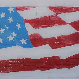 American Flag Mural by Georgia Threet