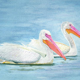 American White Pelicans by Deborah League