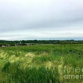 Amish Barns and Farmland by Eunice Warfel