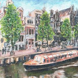 Amsterdam, Holland, City of canals and boats. by Helen Sviderskis
