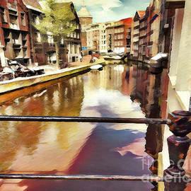 Amsterdam Waterways Painting  by Judy Palkimas