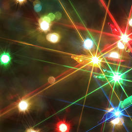 An Electric Christmas Light Starry Abstract Shot by Derrick Neill
