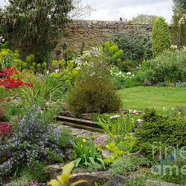 An English Cottage Garden by Lesley Evered