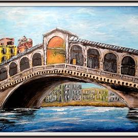 An Impression Of The Rialto Bridge by Irving Starr