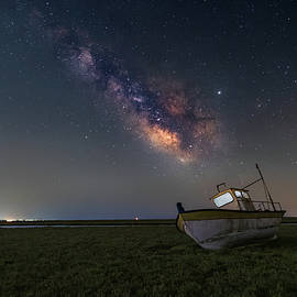 An old boat under the milkyway by Alexios Ntounas
