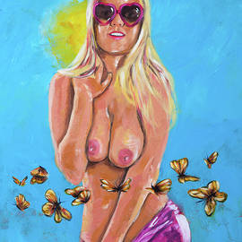 Anabelle Pync with butterflies in her stomach by Pictor Mulier