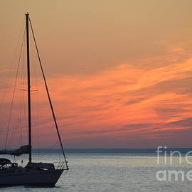 Anchored at Sunset by Chris Bartley