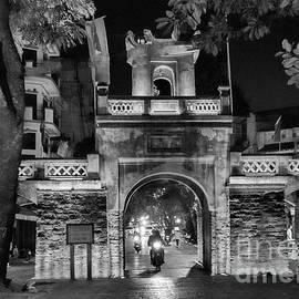 Ancient Gate Wall Hanoi Vietnam BW by Chuck Kuhn