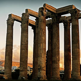 Ancient Greek Temple at Sunset by Cassi Moghan