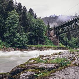 Ancient green railway bridge by Vaclav Sonnek