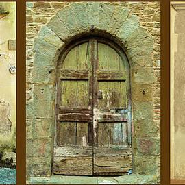 Ancient Tuscan Doors by Norma Brandsberg