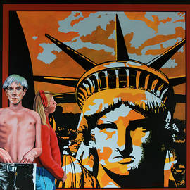 Andy Warhol Painting by Paul Meijering