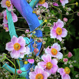 Anemone Wisteria Intertwined by Barbara McMahon